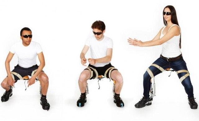 Экзоскелет-стул Chairless Chair для самых ленивых