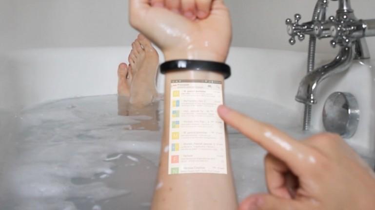 «Умный» браслет Cicret превратит руку в планшет-2