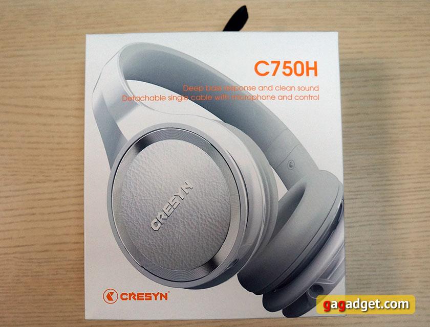 Обзор накладных закрытых наушников Cresyn C750H-2