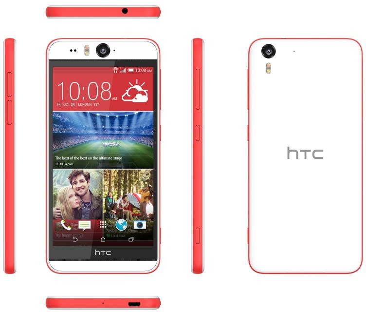 Смартфон HTC Desire Eye с 13-мегапиксельной фронтальной камерой для селфи в Украине с декабря-2