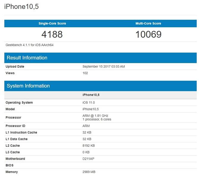 IPhone 8 оказался мощнее iPhone 8 Plus иiPhone X