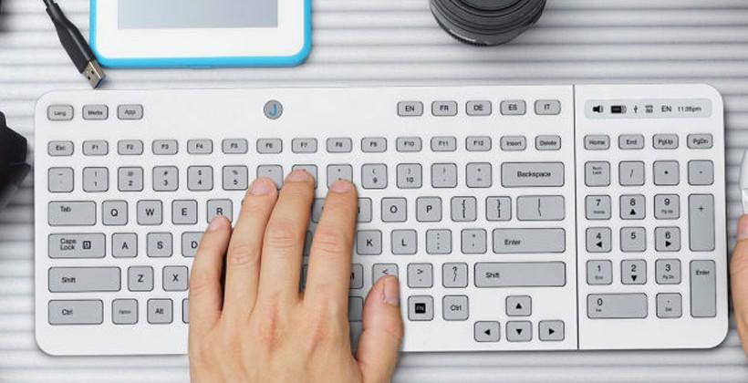 Клавиатура Jaasta с настраиваемыми E Ink кнопками