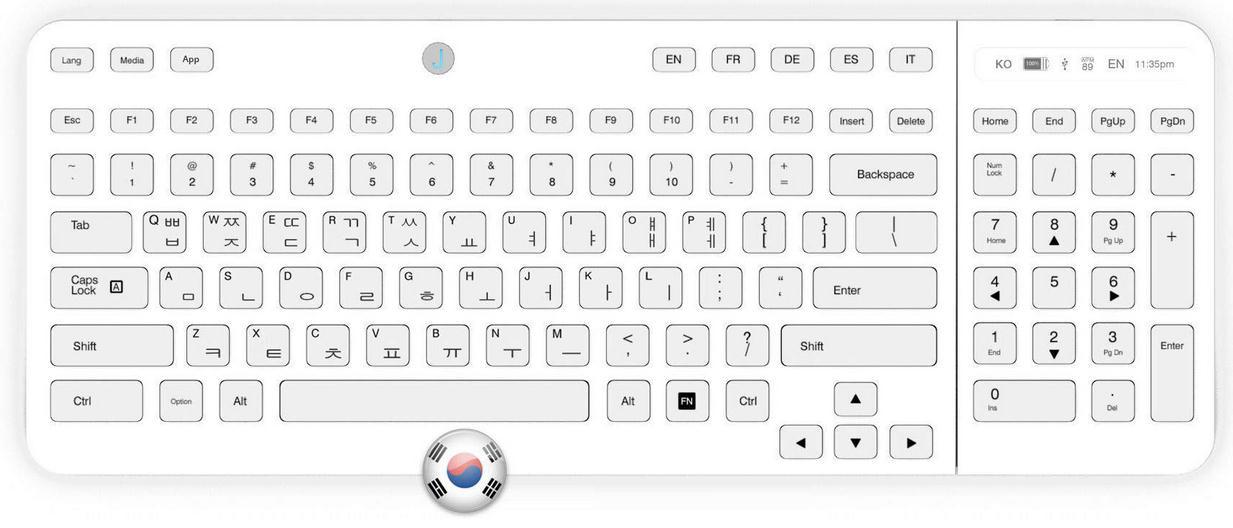 Клавиатура Jaasta с настраиваемыми E Ink кнопками-4