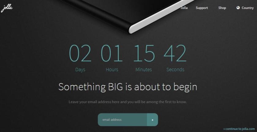 Компания Jolla покажет новое устройство 19 ноября