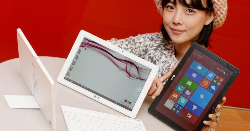 Легкий Windows-планшет LG Tab Book Duo с Bluetooth-клавиатурой