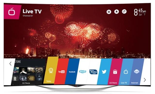 LG EC930T: изогнутый 55-дюймовый OLED-телевизор на WebOS