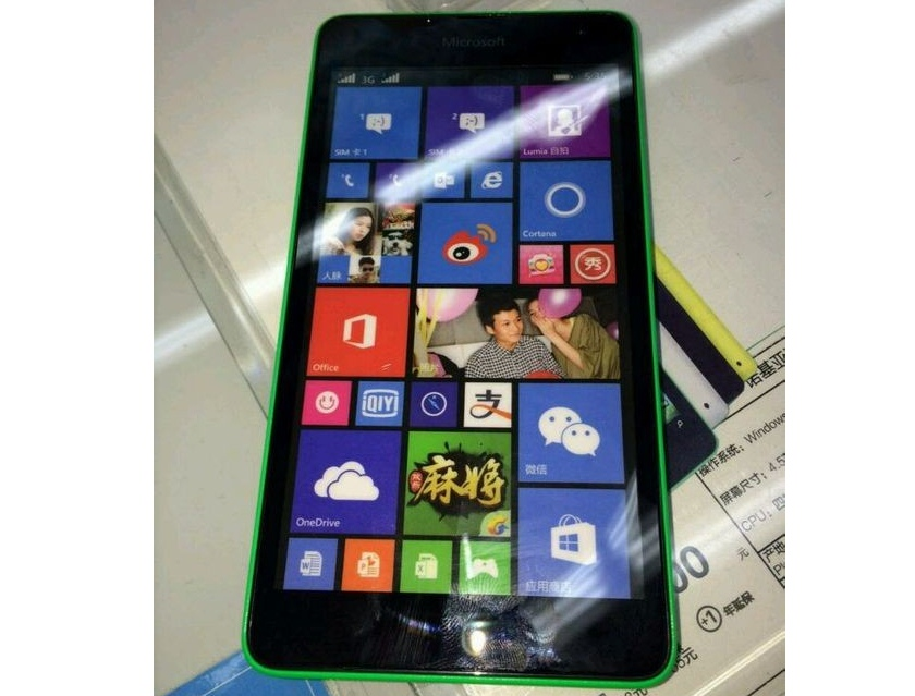 Живые фото смартфона Lumia 535 с брендированием Microsoft