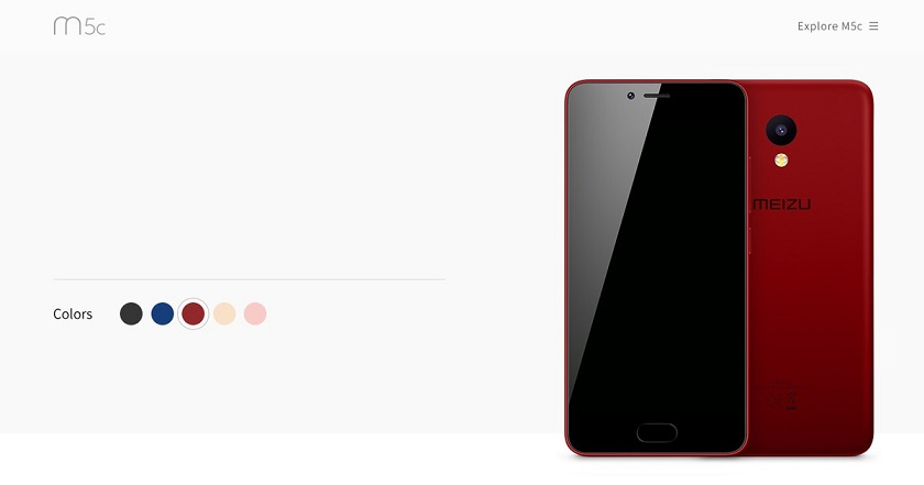 Meizu представила M5c: разноцветный бюджетник вкорпусе изполикарбоната