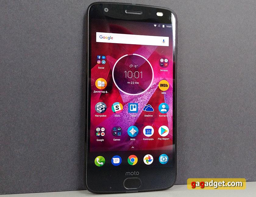 Обзор Moto Z2 Force: флагманский смартфон с небьющимся экраном