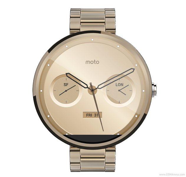 «Умные» часы Moto 360 будут доступны в золотом цвете