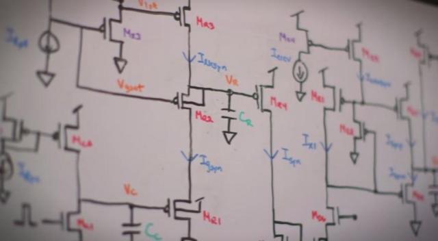 Созданная ими схема Neurogrid,