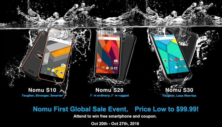 Nomu начинает глобальные продажи защищенных смартфонов
