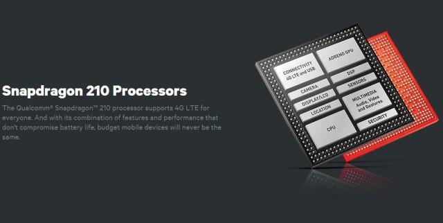 Qualcomm представила бюджетный процессор Snapdragon 210 с поддержкой LTE