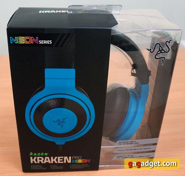 Голубой кракен: обзор игровой гарнитуры Razer Kraken Pro Neon-2