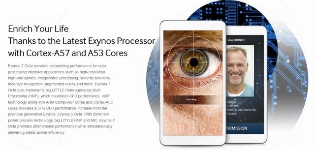 Samsung анонсировала процессор Exynos 7 Octa: 57% прирост производительности над Exynos 5 Octa