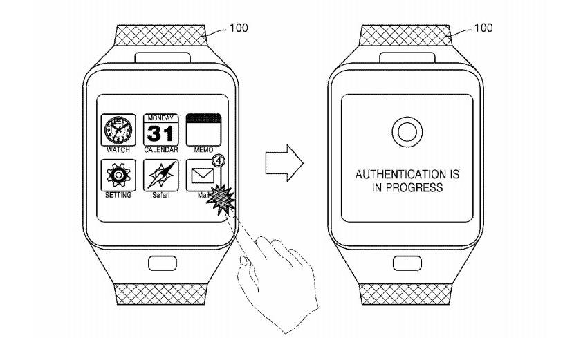Самсунг запатентовала умные часы сфункцией считывания вен наруке