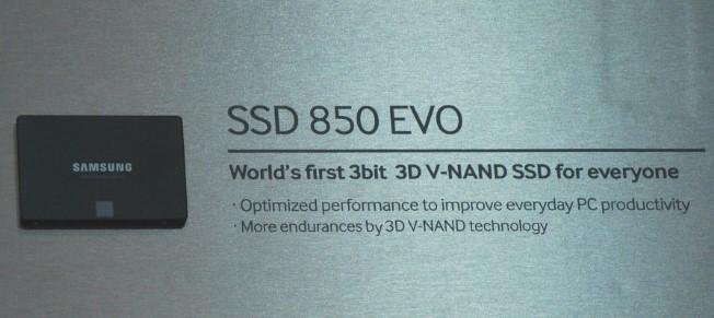Samsung разрабатывает линейку твердотельных накопителей SSD 850 EVO с памятью 3D V-NAND-2