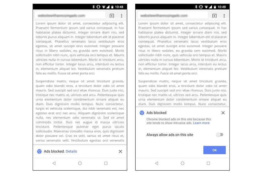 Chrome сейчас самостоятельно очищает интернет отназойливой рекламы