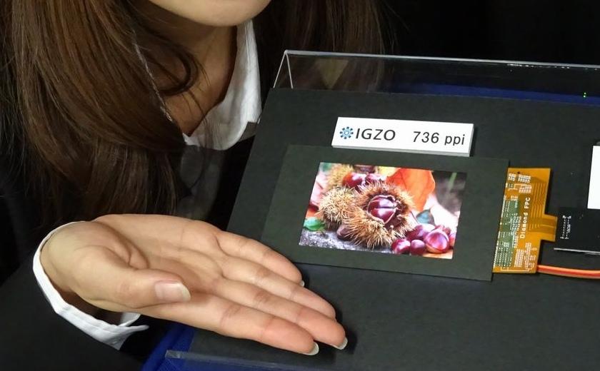 Sharp создала IGZO-дисплей с рекордной плотностью пикселей 736 ppi