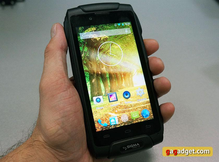 Обзор защищенного смартфона Sigma mobile X-Treme PQ30-3