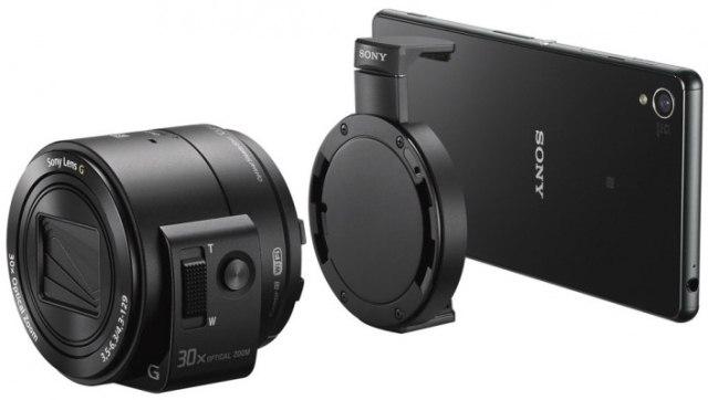 Sony анонсировала пристегивающиеся к смартфонам камеры QX1 и QX30-4