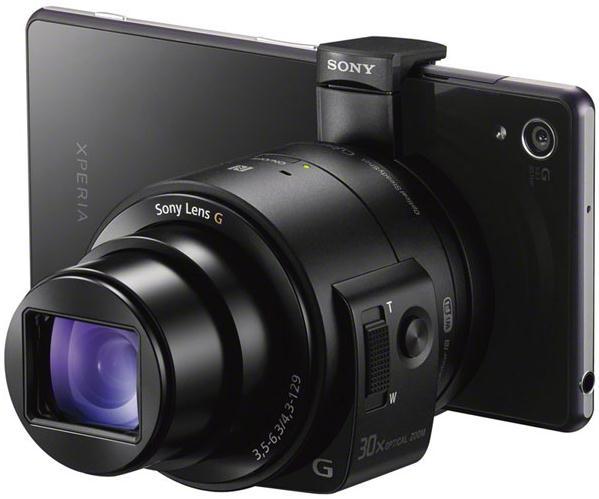 Sony анонсировала пристегивающиеся к смартфонам камеры QX1 и QX30-5