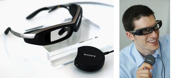 Sony создает конкурента Google Glass — умные очки SmartEyeglass-3