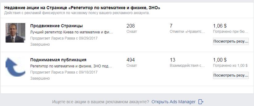эффективность рекламы на фейсбуке