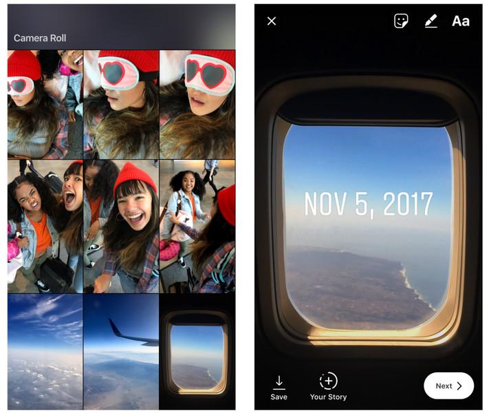 Пользователям социальная сеть Instagram разрешили добавлять в«Истории» старые фото