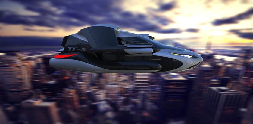 Концепт беспилотного летающего автомобиля Terrafugia TF-X-2