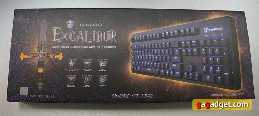 Обзор механической клавиатуры начального уровня Tesoro Excalibur Red Switch-2