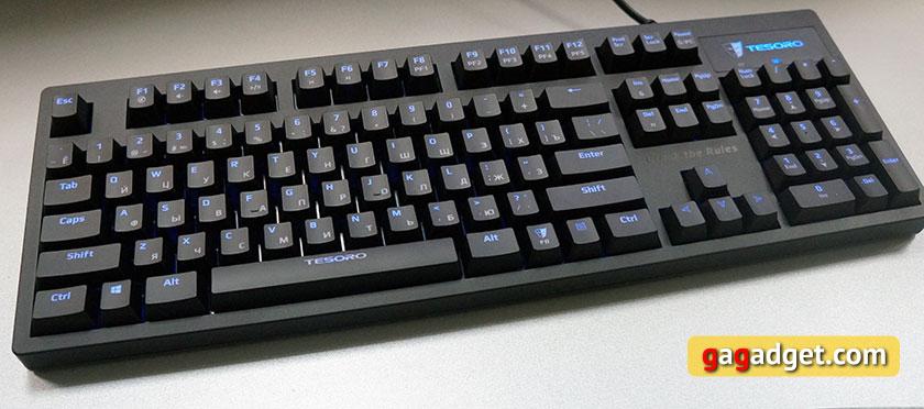 Обзор механической клавиатуры начального уровня Tesoro Excalibur Red Switch-4