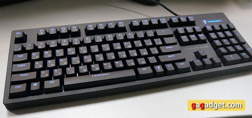 Обзор механической клавиатуры начального уровня Tesoro Excalibur Red Switch-8