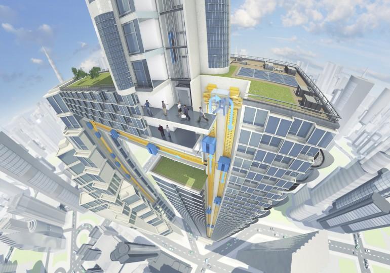 ThyssenKrupp разрабатывает лифт без тросов с возможностью движения в любом направлении