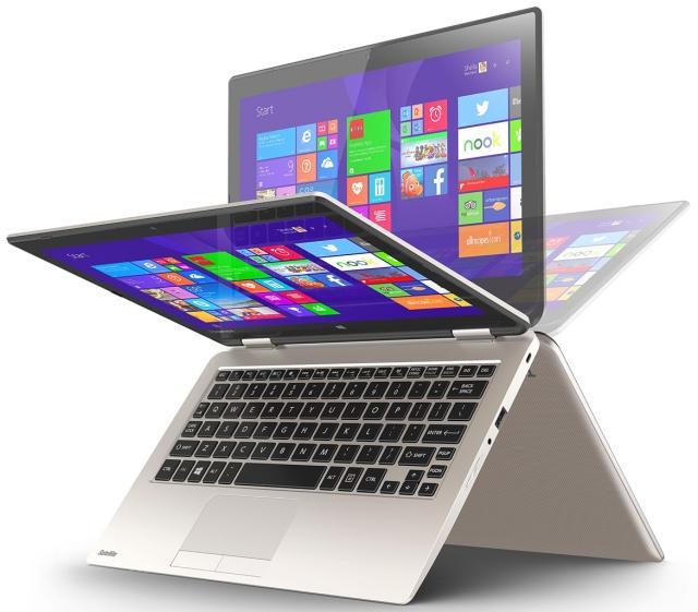 Недорогой ноутбук Toshiba Satellite Radius 11 с поворотным на 360° дисплеем