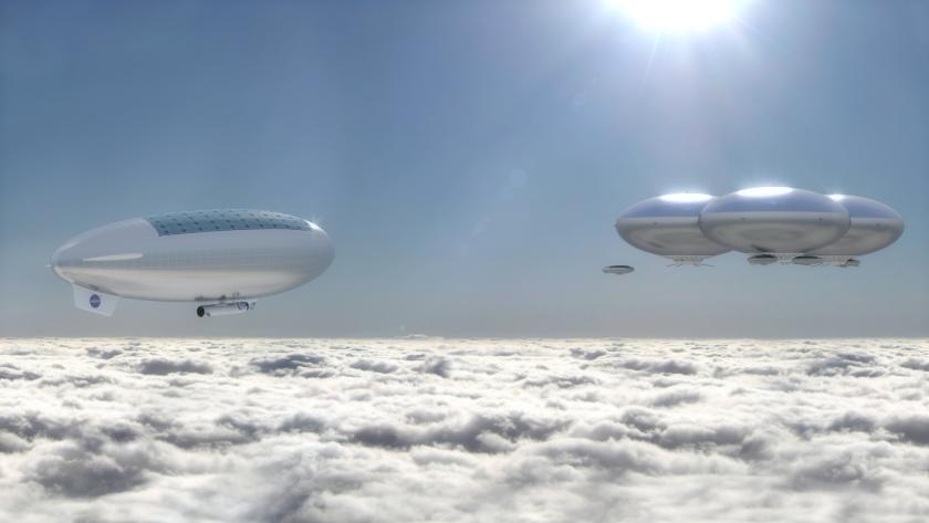 NASA планирует использовать дирижабли на солнечных батареях для исследования Венеры