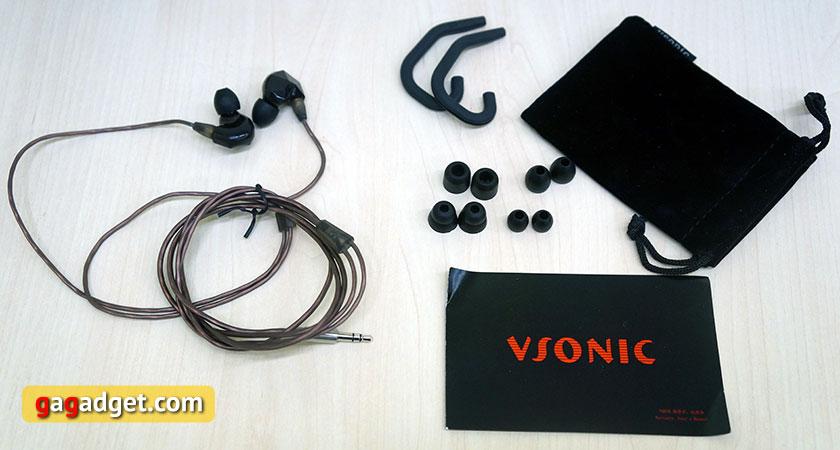 Обзор внутриканальных динамических наушников Vsonic VSD3 и VSD3S-3