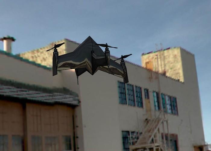 Гибрид квадрокоптера и самолета X PlusOne с максимальной скоростью 100 км/ч