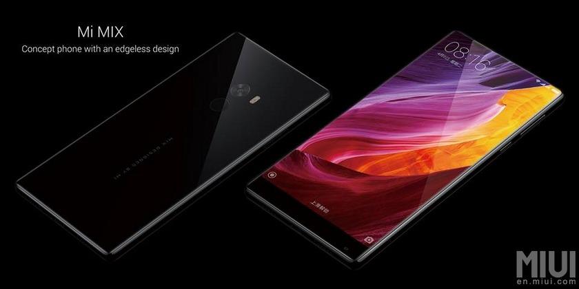Xiaomi выпустила безрамочный смартфон Mi MIX в керамическом корпусе-2