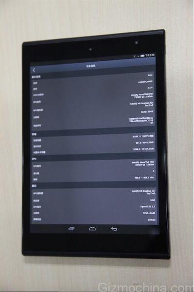 Последователь Xiaomi MiPad будет построен на платформе Intel-2