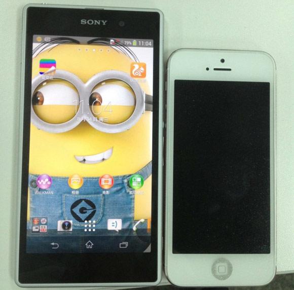 Sony Xperia i1 (Honami) і iPhone 5