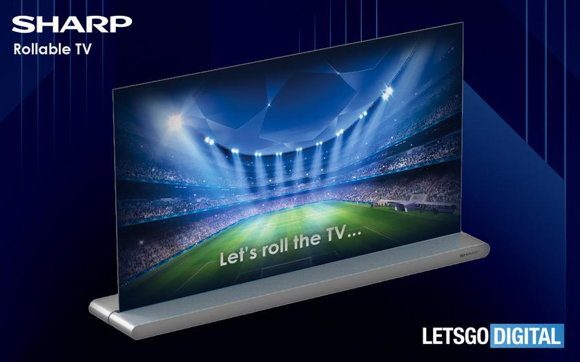 Sharp подготовил складной телевизор, который скручивается в рулон