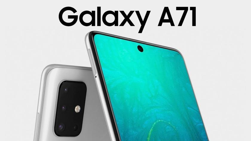 Новые рендеры Samsung Galaxy A71: очень тонкие рамки и вырез, как у Galaxy Note 10
