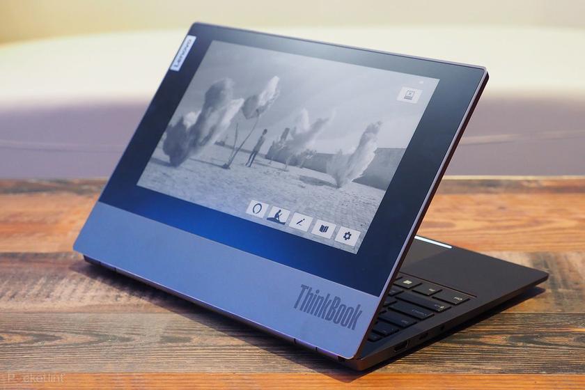CES 2020: Lenovo представила ноутбук ThinkBook Plus с дополнительным экраном E-Ink, как у Kindle, на крышке