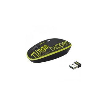 Trust Pebble Wireless Mouse lime text Black-Green USB