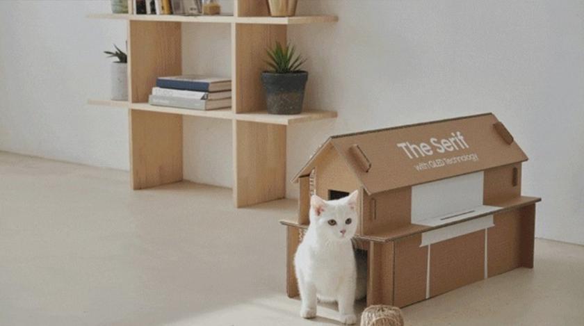 Samsung теперь упаковывает телевизоры в коробки, из которых потом можно сделать мебель