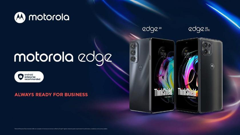 Анонсированы спецверсии Motorola Edge 20 и Edge 20 Lite с повышенной безопасностью