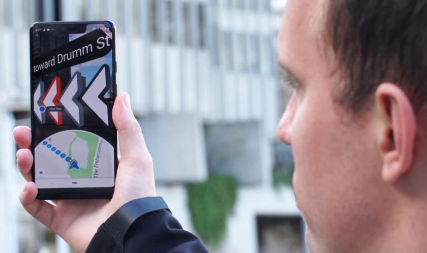 Google Maps: тест навигации с дополненной реальностью