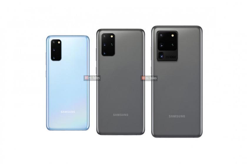 Официальные рендеры трио флагманов Samsung Galaxy S20 и их цены