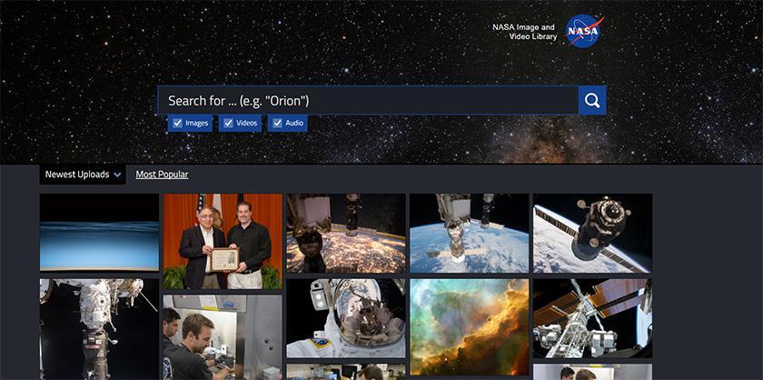 NASA запустили библиотеку фото и видео, доступную всем